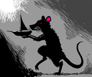 Rat steals a boat