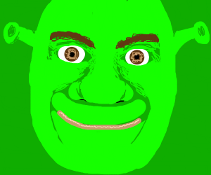 An ogre looking at you/me.