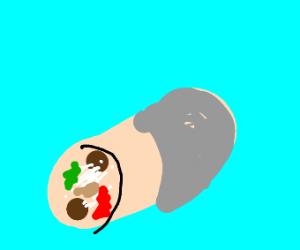 a tasty looking burrito