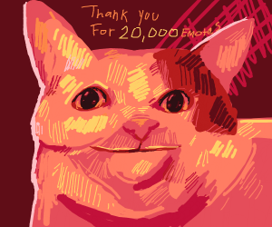 cat thanks you for 20000 emotes