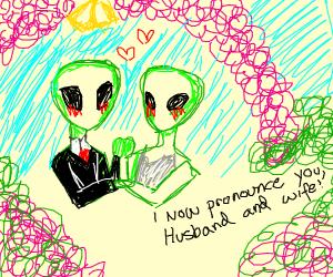 aliens get married :3