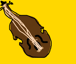 Either a cello, a violin, a viola, or a bass