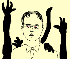 Dwight from the office possesed bt the void