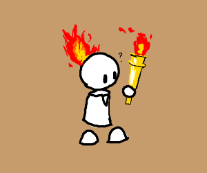 Man catches Olympic torch