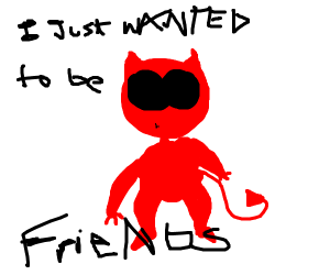 demon person just wants to be friends