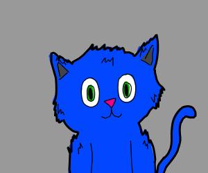 Happy Blue Cat