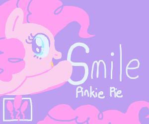 Pinkie pie smiles