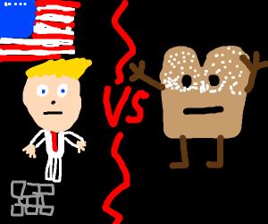 Trump vs Powdered Toast Man