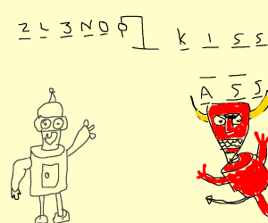 Bender Playing Hangman With Satan