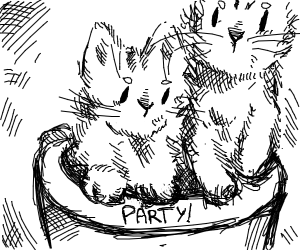 Cute cats having a party