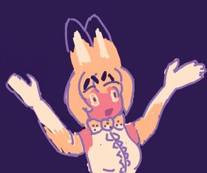 Cute anime fox girl