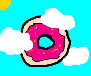 donut in the clouds