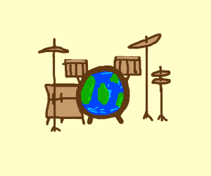 Earth-painted drums