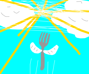 fork goes to heaven