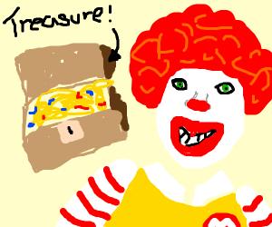 Ronald McDonald showing dat booty