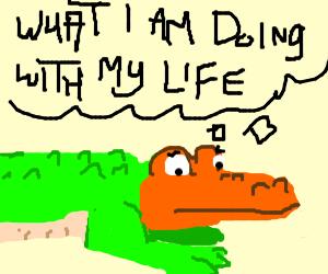 orange headed crocodile questions life