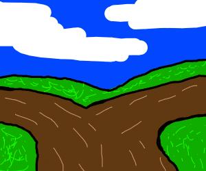 2 brown roads