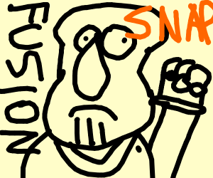 Squidward + Thanos Fusion