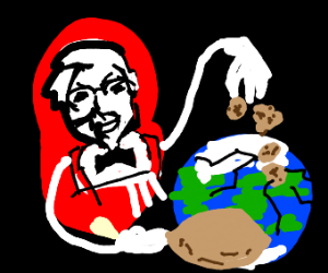 kfc destroys earth