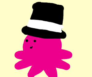Octopus with a top hat