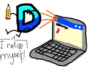 drawcaption D has retired