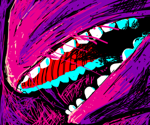 Teeth and pink chaos
