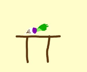 Turnip on a Table
