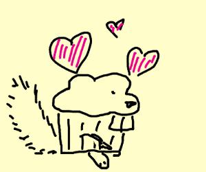 Cupcake Squirrel love