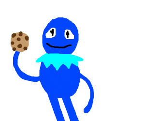Fusion of kermit and cookie monster