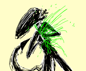 Alien having a Heart Attack