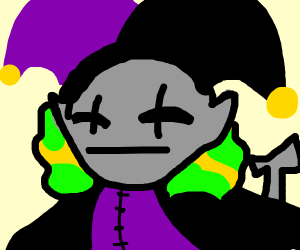 Jevil from deltarune
