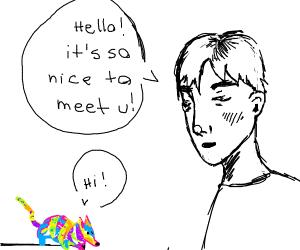 Man meets his alebrije