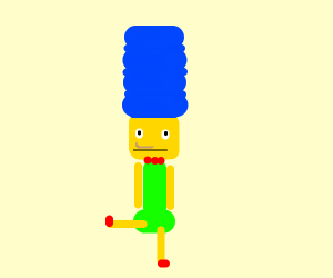 Marge Simpson has a new look...