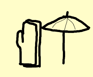 umbrella with oven mitts