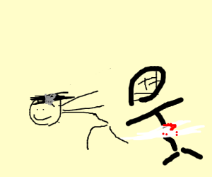 Person gets anime-slashed
