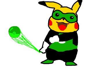 Pikachu is Green Lantern