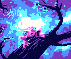 A pink frog-like creature