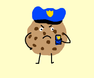 :v cookie police officer with badge and cap