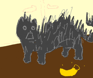 cat scared of banana