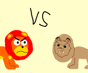 cartoon vs live action simba