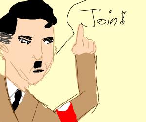nazi asks someone to join, gets rejected