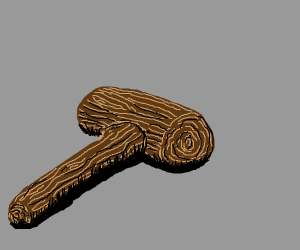 Very detailed wooden hammer