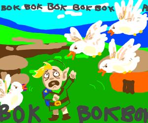 Link kills the chicken :(
