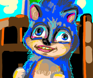 "sonic says ""meow!"""