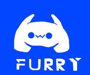 Discord logo is a furry