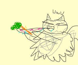 a furry eats a carrot UWU
