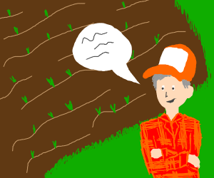 a farmer talking