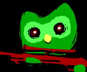 duolingo owl sniping fools