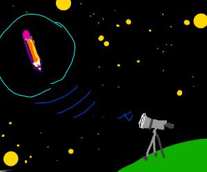 telescope finds pencil in space