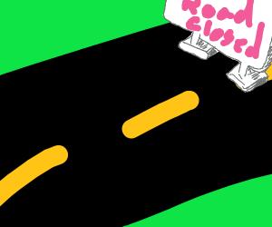 Road blockage